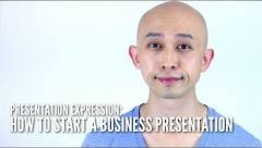 What to say when starting a business presentation