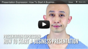 What to say to start a business presentation