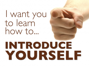 How to open a presentation and introduce yourself sample