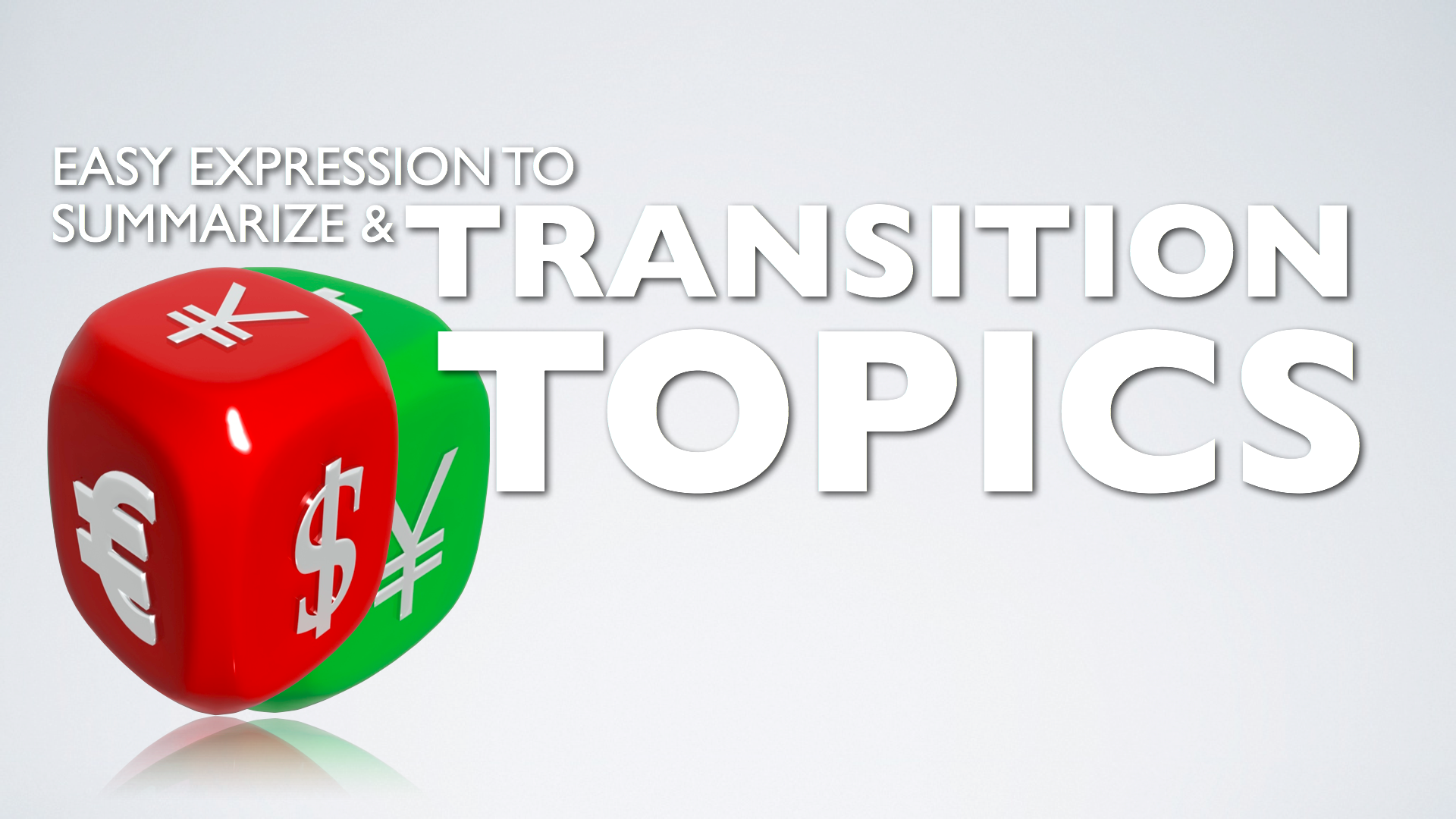 How to end a topic and transition in a presentation